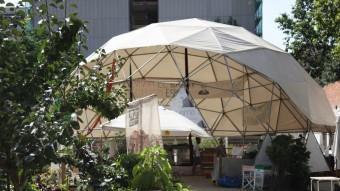 L'Espai Germanetes està situat a l'Esquerra de l'Eixample, a la cantonada del carrer Consell de Cent amb Viladomat. Entre altres espais, al solar hi ha un hort comunitari i una cúpula on es fan tot tipus d'activitats Elisabeth Magre