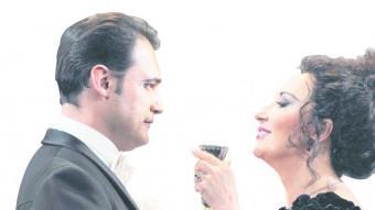 Elena Mosuc i F. Demuro a La Traviata.  Foto:Bofill