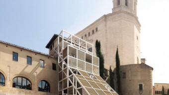 Dues recreacions del projecte que ha proposat l'arquitecte Xavier Cornejo Foto:EL PUNT AVUI