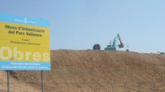 Les obres donaraàn pas al futur parc Vallmora, que serà la gran zona verda de El Masnou. Foto:LL.A