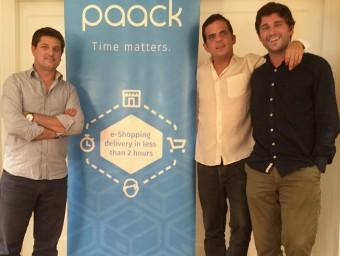 Els tres fundadors de l'empresa: Victor Obradors, Fernando Benito i Xavier Rosales.  Foto:ARXIU
