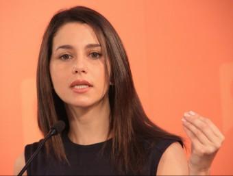 Inés Arrimadas, candidata de Ciutadans (C's) a la presidència de la Generalitat de Catalunya Foto:ACN