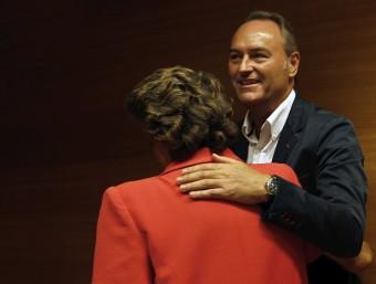 Fabra i Barberà instant abans de comparèixer davant la comissió. Foto:EFE - CARDENAS