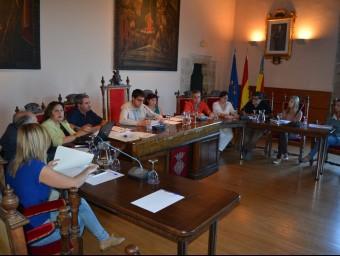 Reunió del Ple de l'Ajuntament de Morella. Foto:EL PUNT AVUI