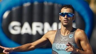 Cesc Godoy, entrant tercer el mes passat al Garmin Triatló Foto:L'ESPORTIU