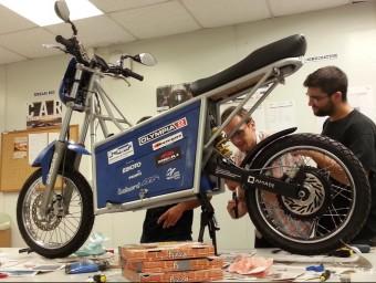 La moto elèctica que l'equip de la UdG va construir.
