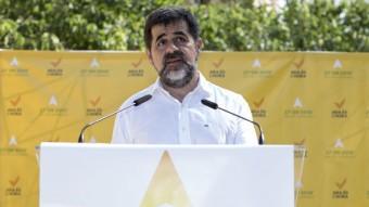 El president de l'ANC, Jordi Sánchez, el dia que van presentar el Via Lliure Foto:ALBERT SALAMÉ
