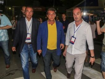 Joan Laporta en la nit de les eleccions a la presidència del Barça. Foto:JUANMA RAMOS