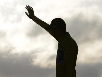 Chris Froome , al podi de París. Foto:AFP