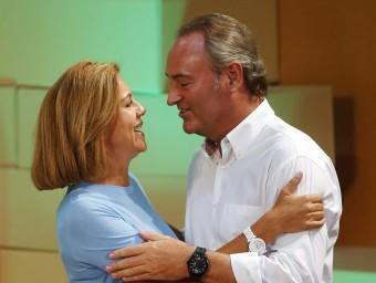 L'actual president del PPCV, Alberto Fabra amb M. Dolores de Cospedal. Foto:AGÈNCIES