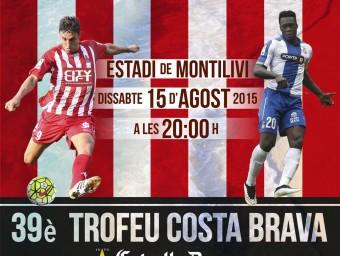 El cartell de la 39a edició del trofeu Costa Brava. Foto:GFC