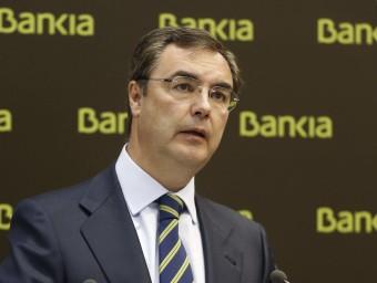 José Sevilla, conseller delegat de Bankia, en la conferència de premsa celebrada ahir Foto:PACO CAMPOS / EFE