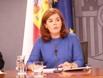 La vicepresidenta del govern espanyol, Soraya Sáenz de Santamaría Foto:ACN