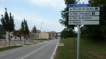 Una vista de l'avinguda dels Països Catalans. Foto:J.C