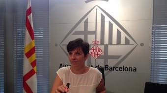 La tinent d'alcalde Laia Ortiz , ahir a l'Ajuntament de Barcelona Foto:EUROPA PRESS