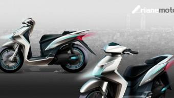 Esbós del projecte de motocicleta 100% catalana que promou la direcció general d'Indústria del govern català Foto:EL PUNT AVUI