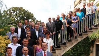 Els consellers comarcals de l'Alt Empordà en una imatge del dia de constitució del ple Foto:J. S