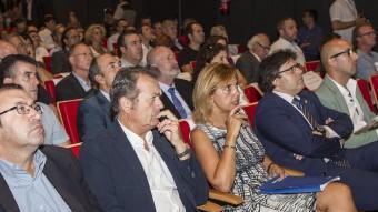 Marta Felip i Pere Vila ahir al matí durant la presentació del Patronat de Turisme. Foto:JORDI RIBOT / ICONNA