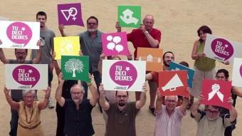 Un imatge del vídeo de la campanya #TuDecideixes!