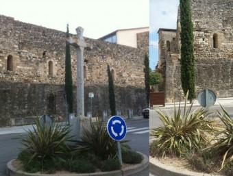 L'antiga creu franquista ja no es pot veure a la rotonda del cementiri Foto:REUSDIGITAL