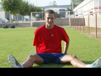 Cinc anys separen les dues imatges de Juncà. Va arribar al Girona el 2010, amb 16 anys Foto:J.S