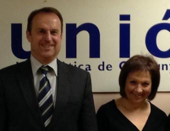 Manuel Toro i Dolors Pujol, eren els dos representants d'UdC al govern de CiU a Figueres Foto:EL PUNT AVUI