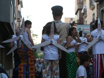 Una cercavila reivindicativa que es va organitzar al 2009 a La Jonquera contra el projecte de parc eòlic Foto:LLUÍS SERRAT