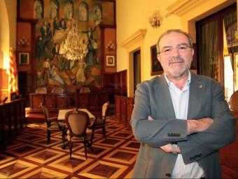 Joan Reñé al Saló de Plens de la Diputació de Lleida, que presideix des del 2011.judit Fernàndez