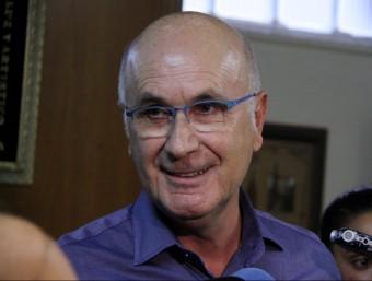 El líder democratacristià Josep Antoni Duran i Lleida, somrient en una atenció als mitjans Foto:ACN