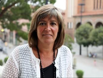 Núria Marín, al balcó consistorial Foto:ELISABETH MAGRE