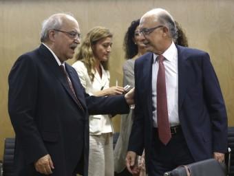 Mas-Colell i Montoro, durant la reunió del CPFF d'aquest dimecres Foto:EFE