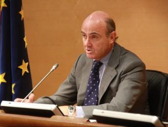 El ministre d'Economia, Luis de Guindos Foto:ACN