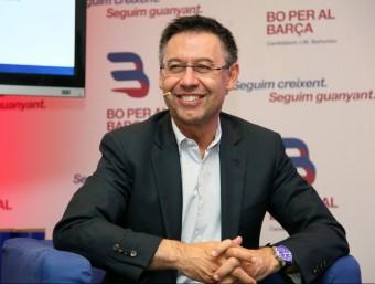 Josep Maria Bartomeu, president del FC Barcelona, en un acte de campanya Foto:ELISABETH MAGRE
