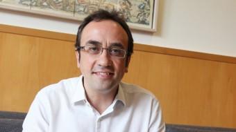 Josep Rull, fotografiat al despatx de CDC, ocuparà el número 12 a la llista de Junts pel Sí elisabeth magre