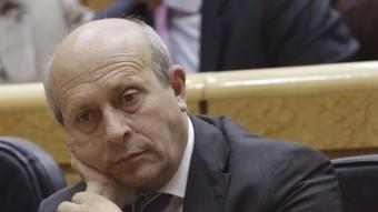 José Ignacio Wert, durant una sessió de control del Govern espanyol Foto:EFE