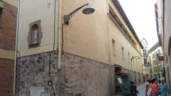 Els treballs per a la construcció de les botigues i de l'oficina de turisme ja han començat. Foto:J.C