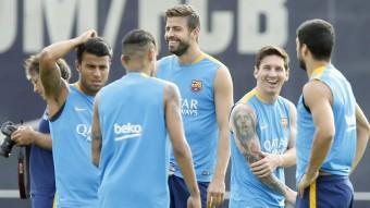 Entrenament del Barça a la Ciutat Esportiva Joan Gamper