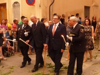 Jesús Ros ha presidit la processó de tancament de les festes patronals. Foto:ESCORCOLL
