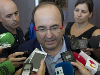 El candidat del PSC a la presidència de la Generalitat, Miquel Iceta Foto:EUROPA PRESS