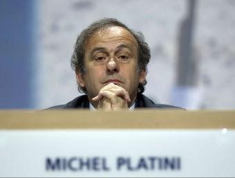 Michel Platini , president de la UEFA. Foto:AFP