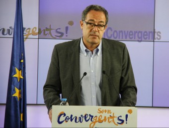 El diputat de CDC al Congrés dels Diputats, Pere Macias, en roda de premsa a la seu nacional de Convergència a Barcelona Foto:ACN