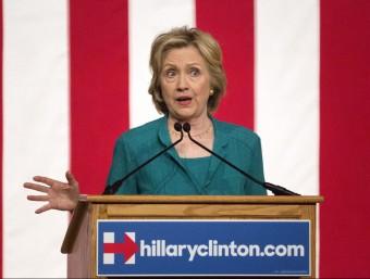 Hillary Clinton durant l'acte de campanya que va celebrar ahir a Miami, Florida Foto:CRISTOBAL HERRERA / EFE