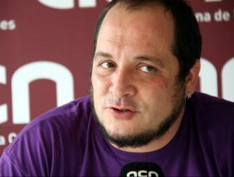 El diputat i portaveu parlamentari de la CUP, David Fernández, durant l'entrevista Foto:ACN