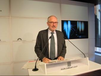Rafael Ribó en una roda de premsa al Parlament Foto:EP