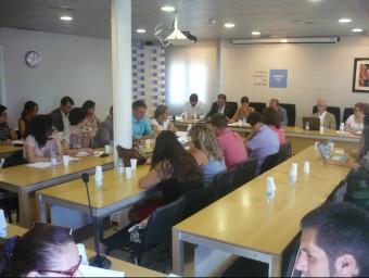 El primer ple del Consell Comarcal del Maresme ha tingut lloc aquest divendres a Mataró en sessió extraordinària. Foto:LLUÍS ARCAL