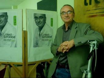 Marc Vidal va ser el cap de llista a Girona d'ICV-EUiA al 2012 amb el lema ... I tant sí podem! Foto:DSAF