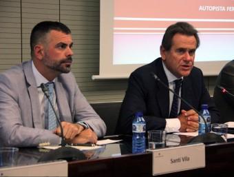 Vila i Cambra, durant la roda de premsa d'aquest divendres Foto:ACN