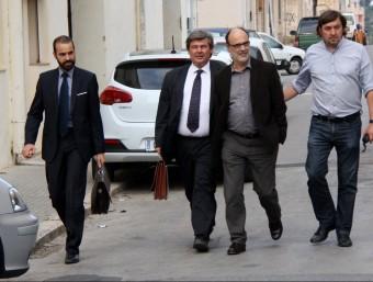 L'alcalde, Alfons Montserrat, durant la seva declaració al jutjat d'Amposta. Foto:ACN
