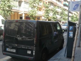 Una de les zones blaves de Mataró, a l'avinguda Jaume Recoder, que a l'agost serà gratuïta. Foto:LL.A