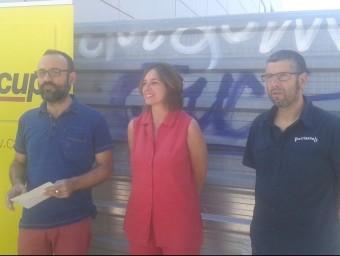 Salellas, Ball·llosera i Navarro en la presentació d'ahir Foto:L.A